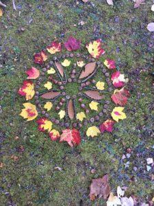 Flower mandala blomkonst Ullstoprs stugor reatret skåne