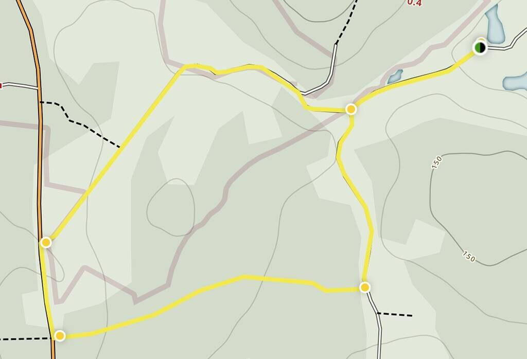 Green trail Grönaslingan Ullstorps stugor