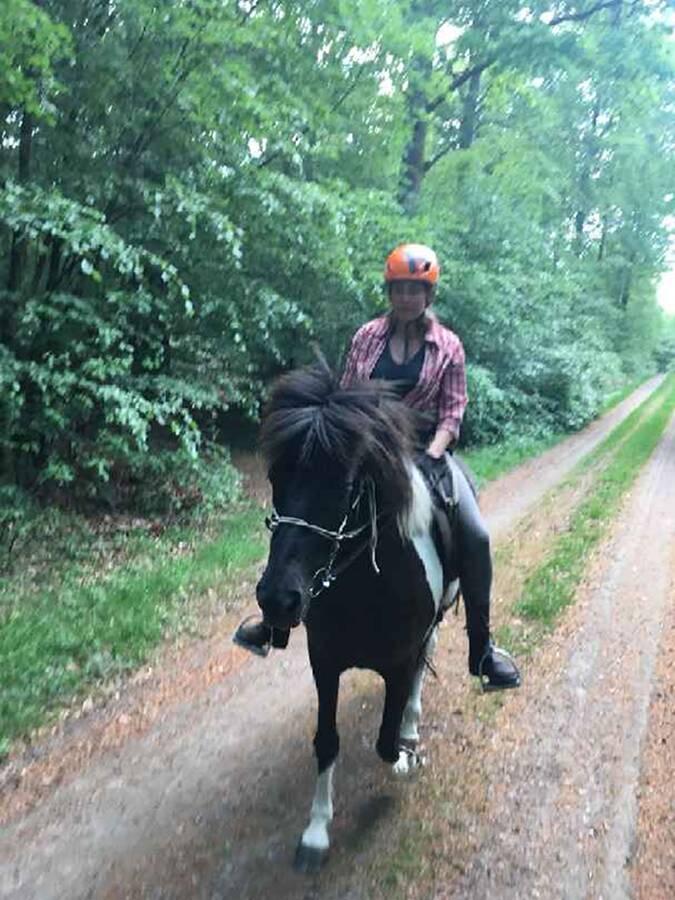 Horse riding on Icelandic horse ridning Islänning Monica Nowak Ullstorps stugor skåne