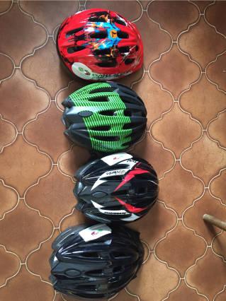 borrow bikes helmets