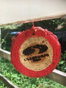 red marking röda slingans markering ullstorps stugor