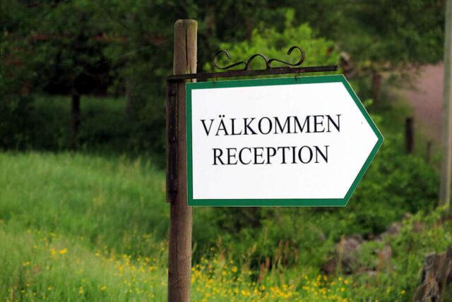 Welcome Reception Ullstorp Stuga Sweden